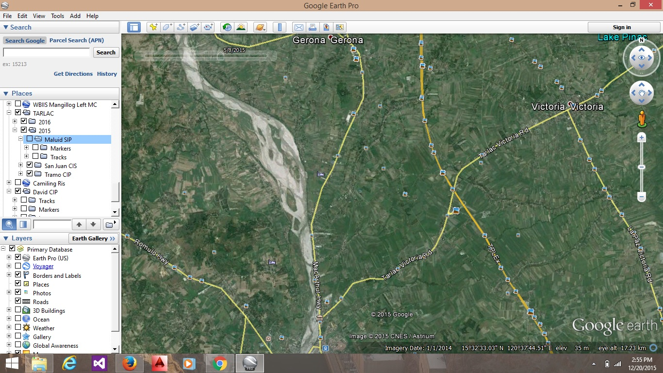 step 3 create a path to cover the area mentioned above more points means more accuracy note google earth points will only give us approximate values