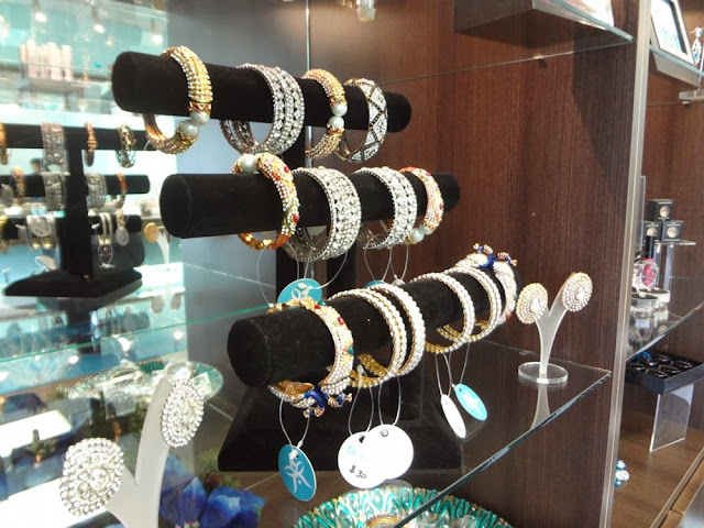 Jewelry for sale inside 4 Angels Beauty Care in Vancouver