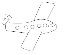 Desenhos de Avião para colorir e pintar