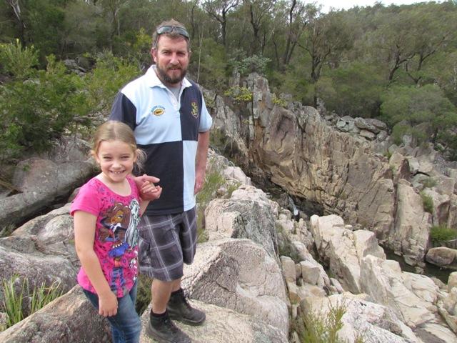 Crows Nest Creek cascades
