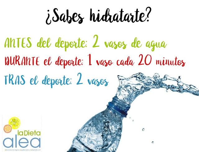 Hidratación durante del deporte