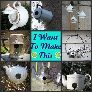 LilacsNDreams: Repurpose Teapots, Coffee Pots, Cups and Saucers