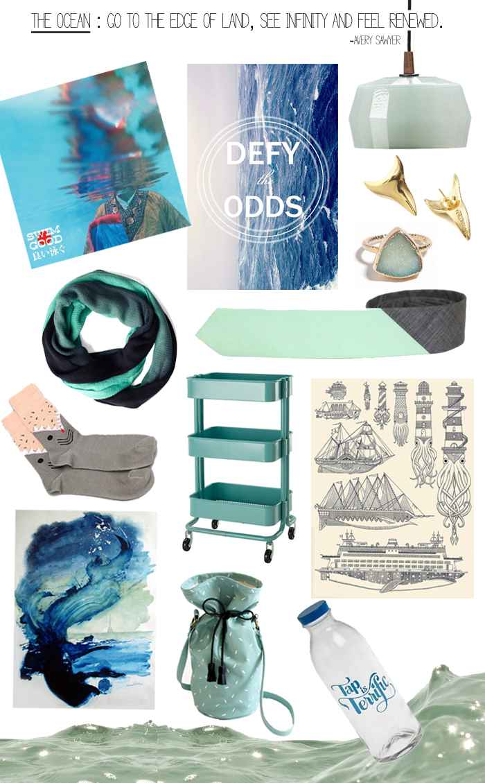 ocean moodboard  by OTL blog