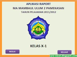 Raport Excel KTSP Kurikulum 2013
