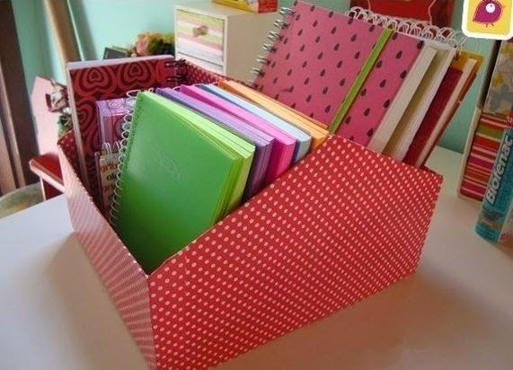 Diy file organier from shoe box the idea king - Maison en boite a chaussure ...