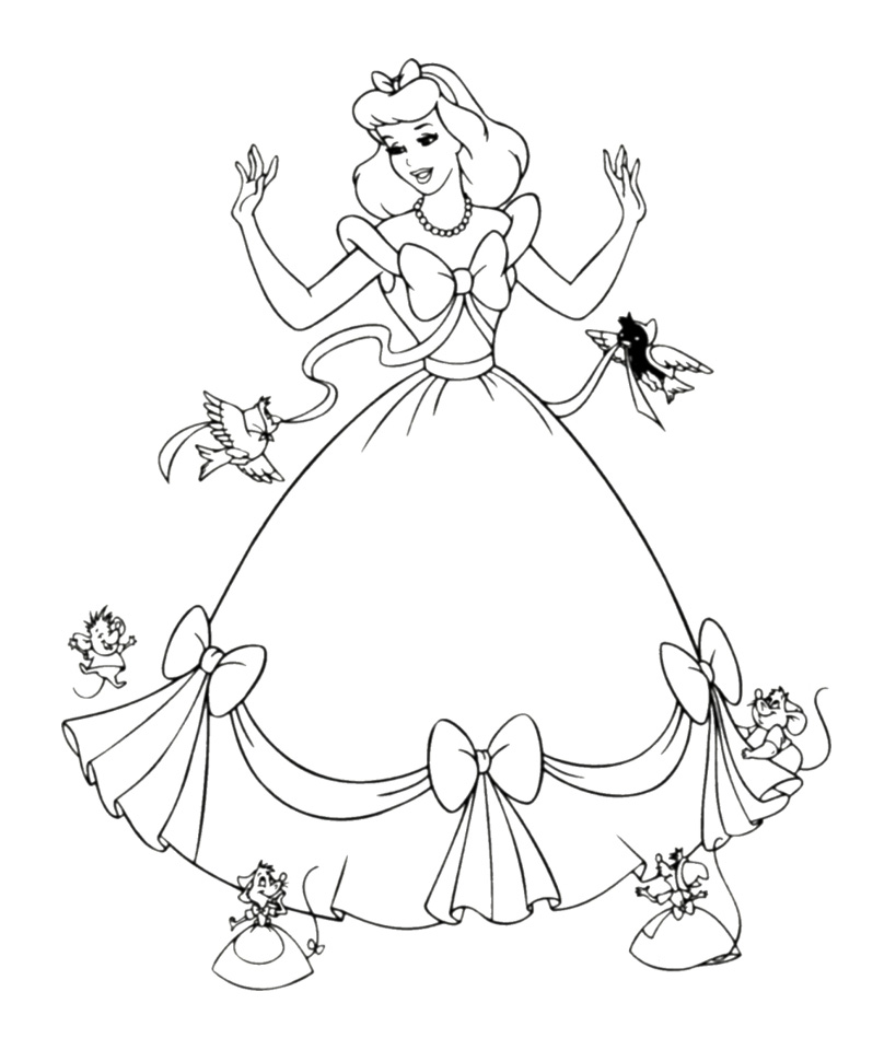 princess gown coloring pages - photo#25