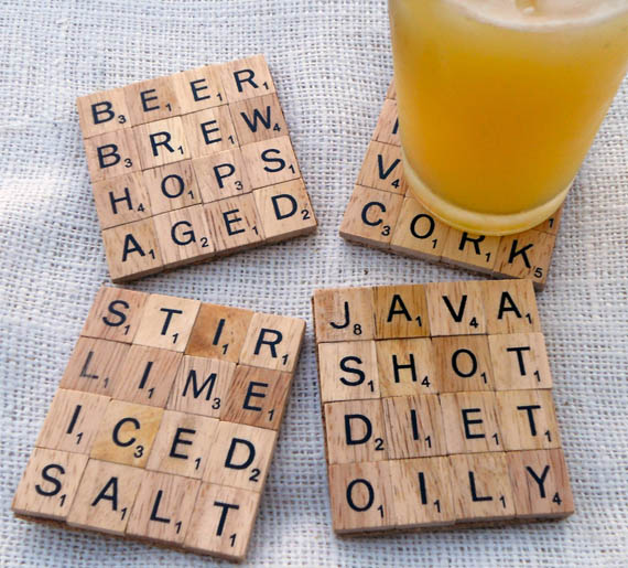 11 creative and cool ways to reuse old scrabble tiles for Creative coasters