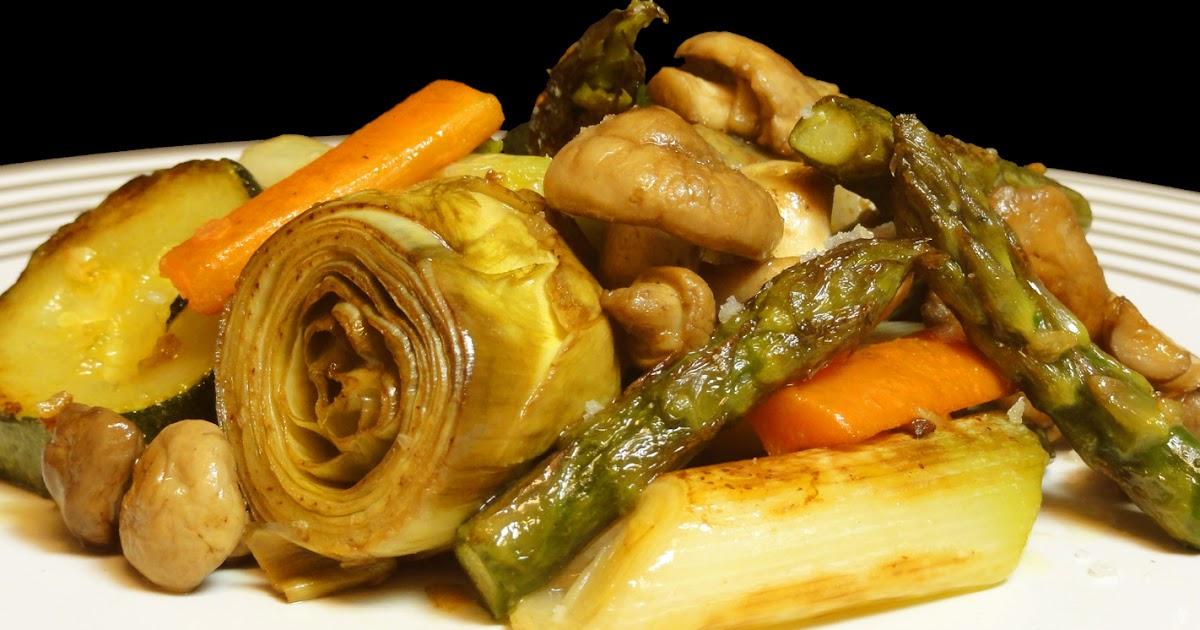 Cocinar para los amigos verduras salteadas con setas for Que cocinar con verduras