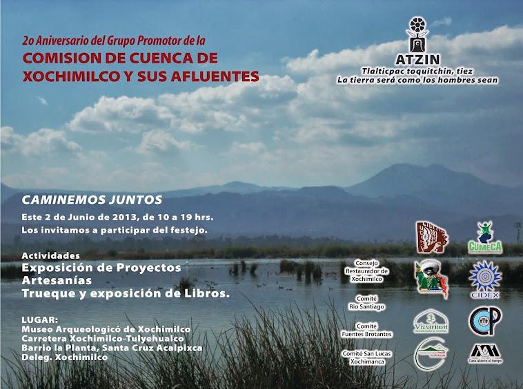 II aniversario del grupo pomotor de la Comisión de Cuenca de Xochimilco y sus afluentes