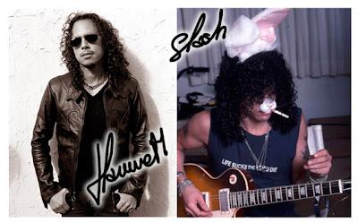 Kirk Hammet y Slash