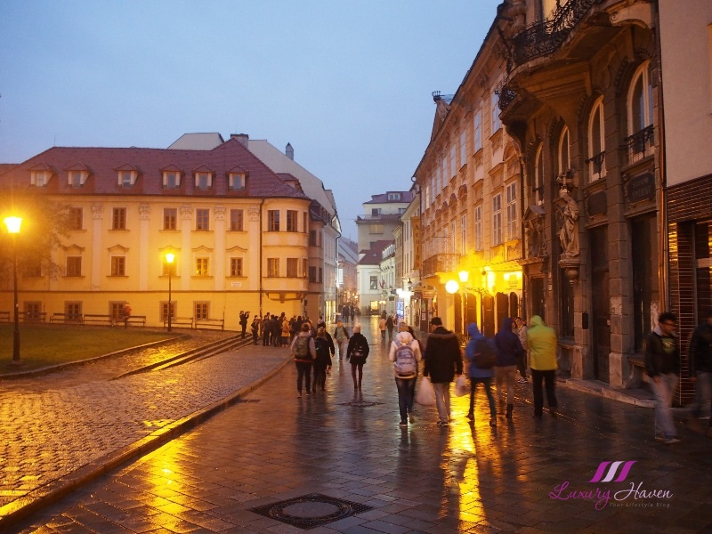 slovakia bratislava old town hall at night