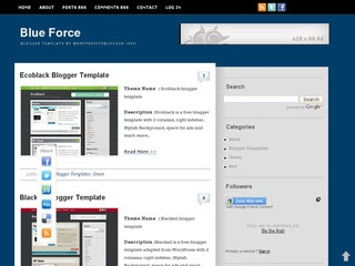 Blue Force Blogger Template