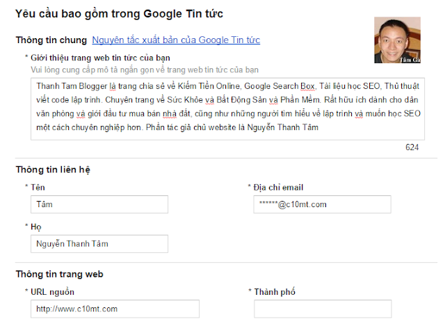 Yêu cầu bao gồm trong Google Tin tức Thông tin chung Nguyên tắc xuất bản của Google Tin tức www.c10mt.com