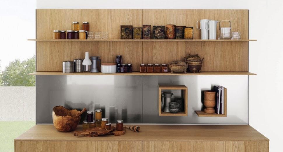 Estantes para equipar las paredes de la cocina cocinas - Estantes de cocina ...
