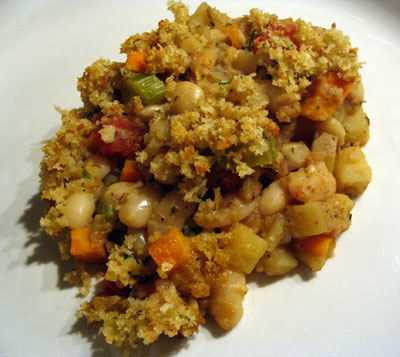 Vegetarian Cassoulet with Bread Topping