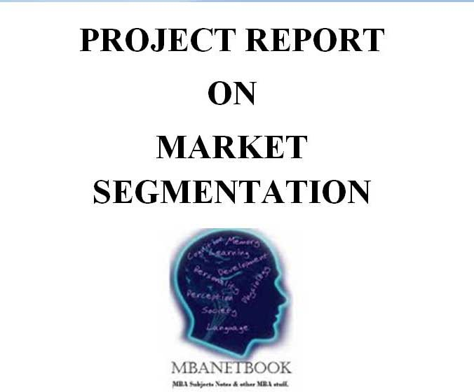project report on marketing segmentation and positioning We want to safeguard our company's long-term success in balance with  ecological responsibility and societal acceptance find out more about.