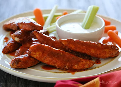 Less than 10 minutes to make – these chicken tenders are spicy and delicious!
