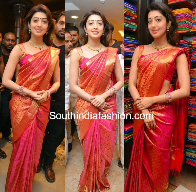 Pranitha Subhash launches Kancheepuram VRK Silks at Kukatpally