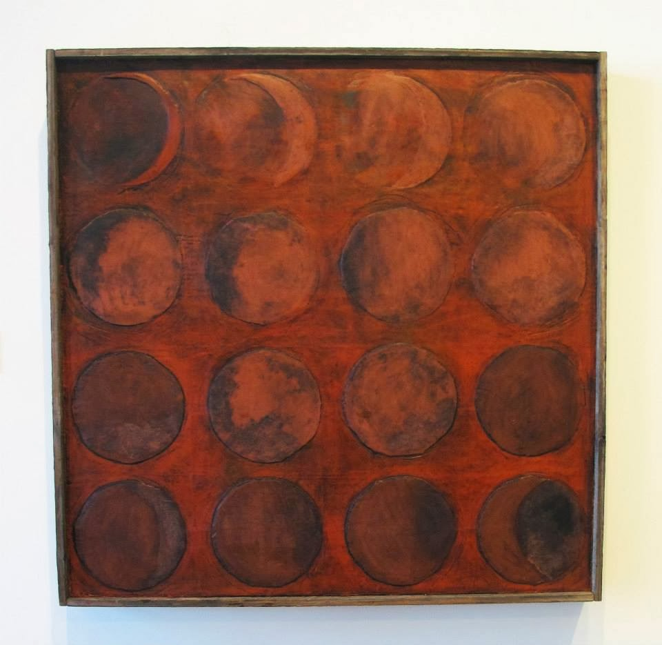 Luteal Phase 48'' x 48'' encaustic-available