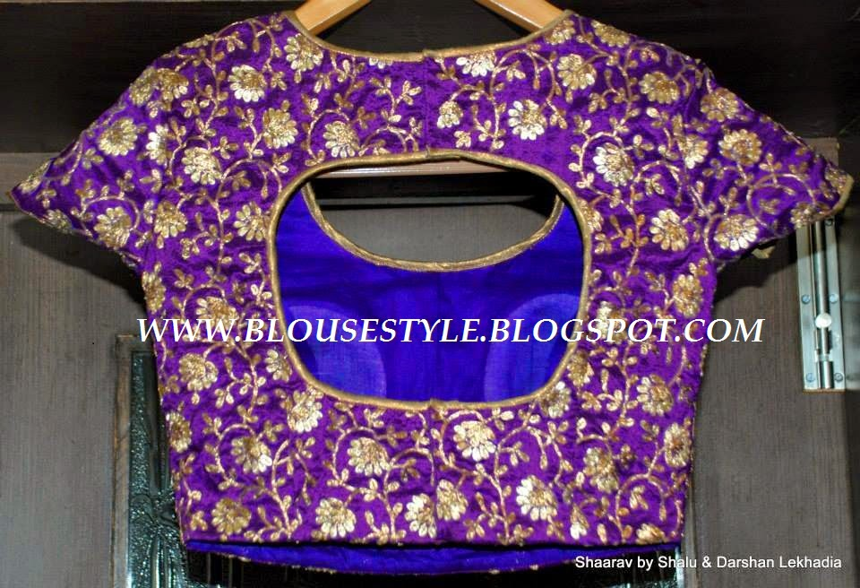 PURPLE BACK NECK BLOUSE
