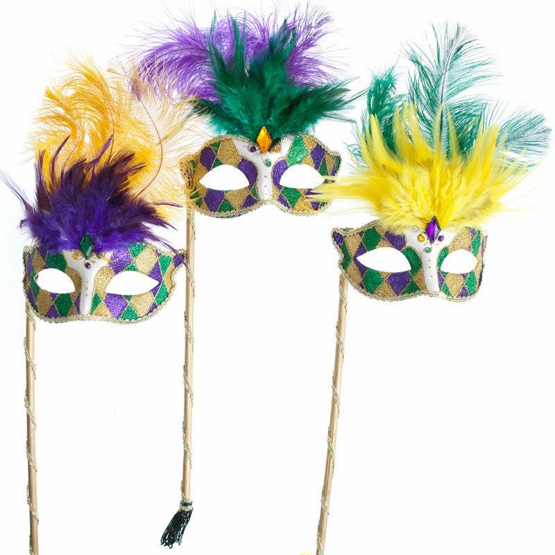 Mardi Gras Half Masks