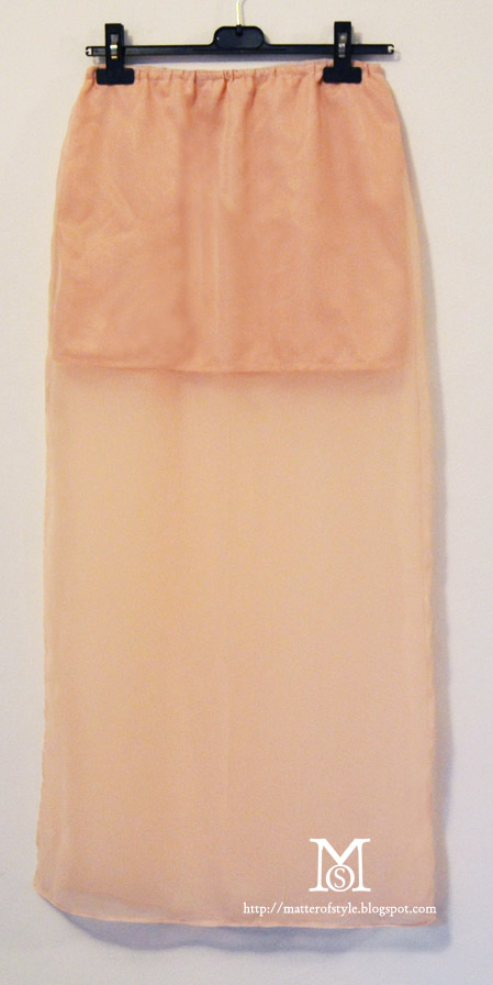 a matter of style diy fashion sheer maxi skirt with side