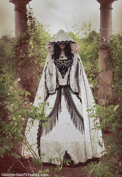 goth society over our dead bodies gothic wedding gown