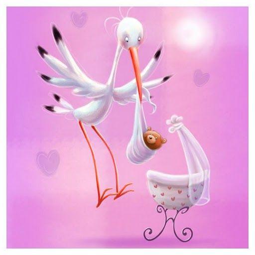 cigueena con bebe osito en rosa imagenes cigueenas para imprimir
