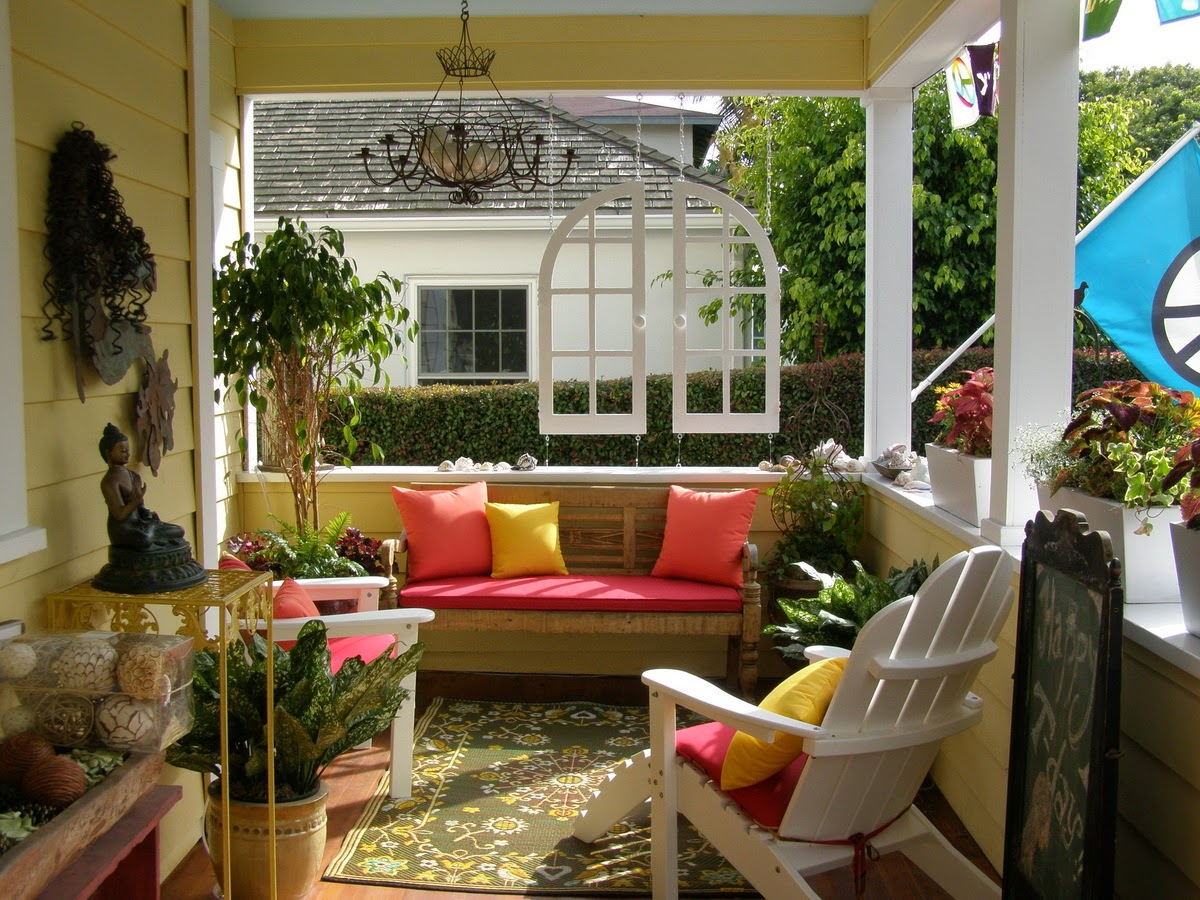Front porch decorating ideas for spring instant knowledge for Patio decorating photos