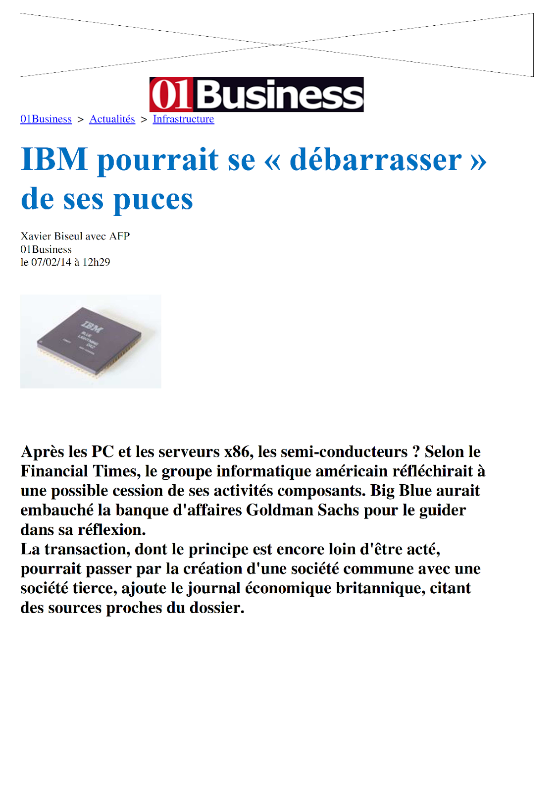 blog cftc altis le forum des salaries cftc altis ibm pourrait se debarrasser de ses puces. Black Bedroom Furniture Sets. Home Design Ideas