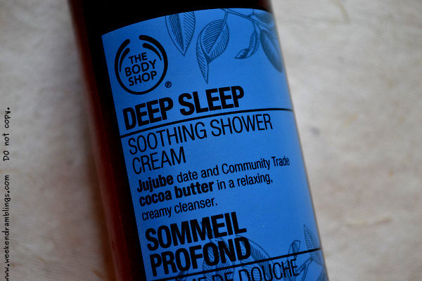TBS Bodyshop Deep Sleep Soothing Shower Cream Body Wash Reviews Ingredients Skincare Makeup Beauty Blog