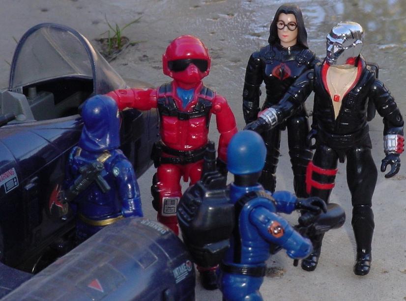 1984 Wild Weasel, Rattler, 1986 Strato Viper, AVAC, 1994 Techno Viper, Baroness, 1983 Destro, Cobra Commander, Cobra Trooper, 2004