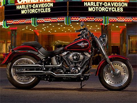 2013 HarleyDavidson FLSTF Softail Fat Boy gambar motor