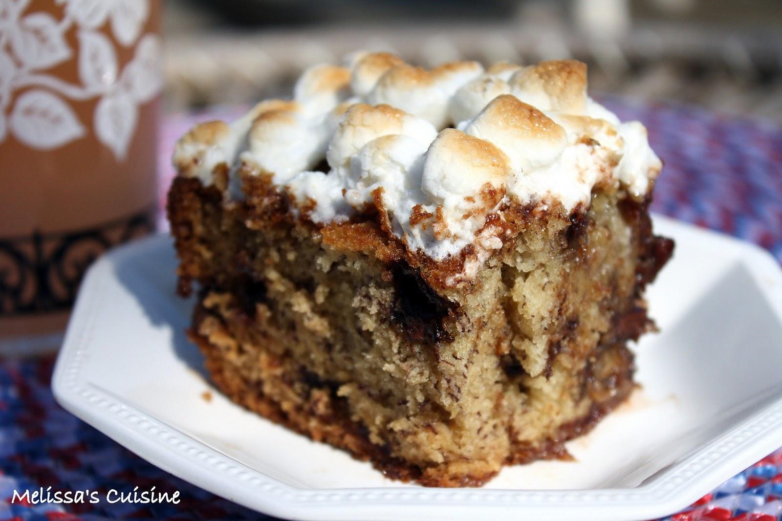 Melissa's Cuisine: S'mores Banana Bread Cake
