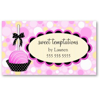 Business card showcase by socialite designs cake pops business cards reheart Image collections