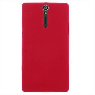Silicon Case Untuk Sony Xperia S LT26i Sony Ericsson Xperia Arc HD Red