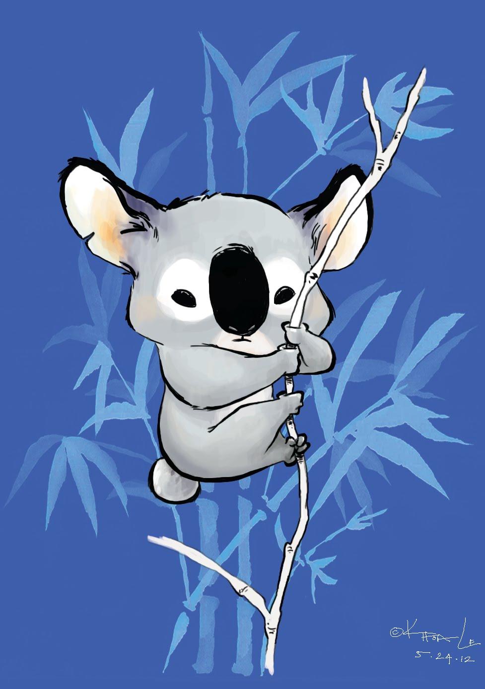 Most Inspiring Wallpaper Koala Cartoon - koala_line  Pic_94322   .jpg