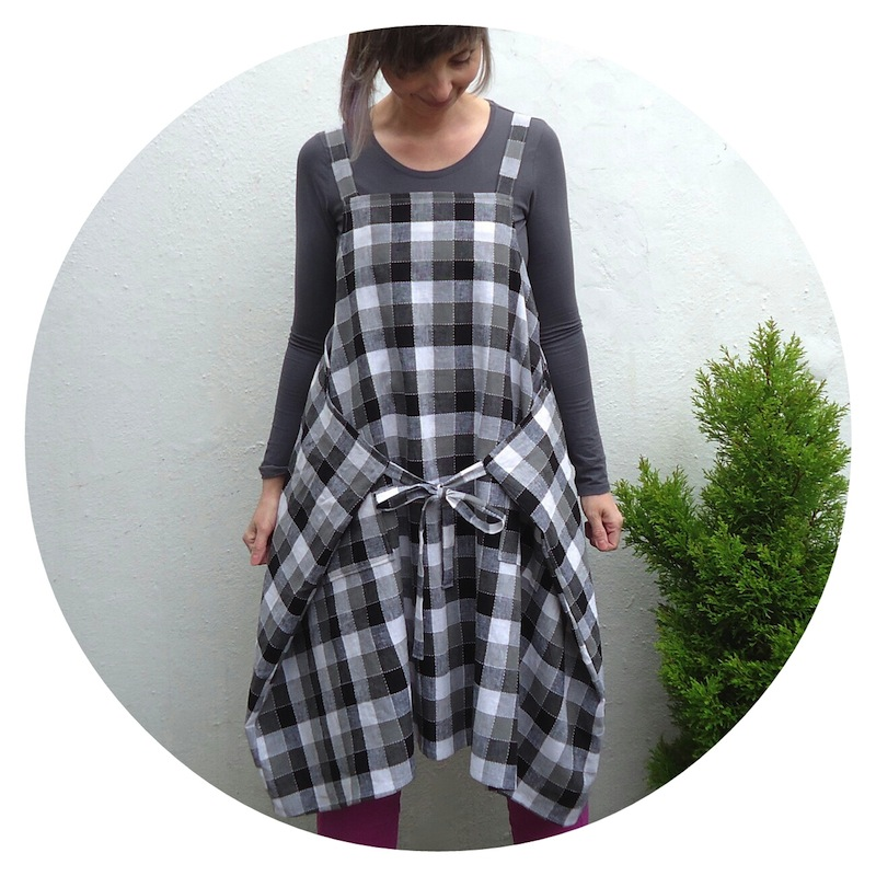 Yoshiko Tsukiori Straight Stitch Apron Dress