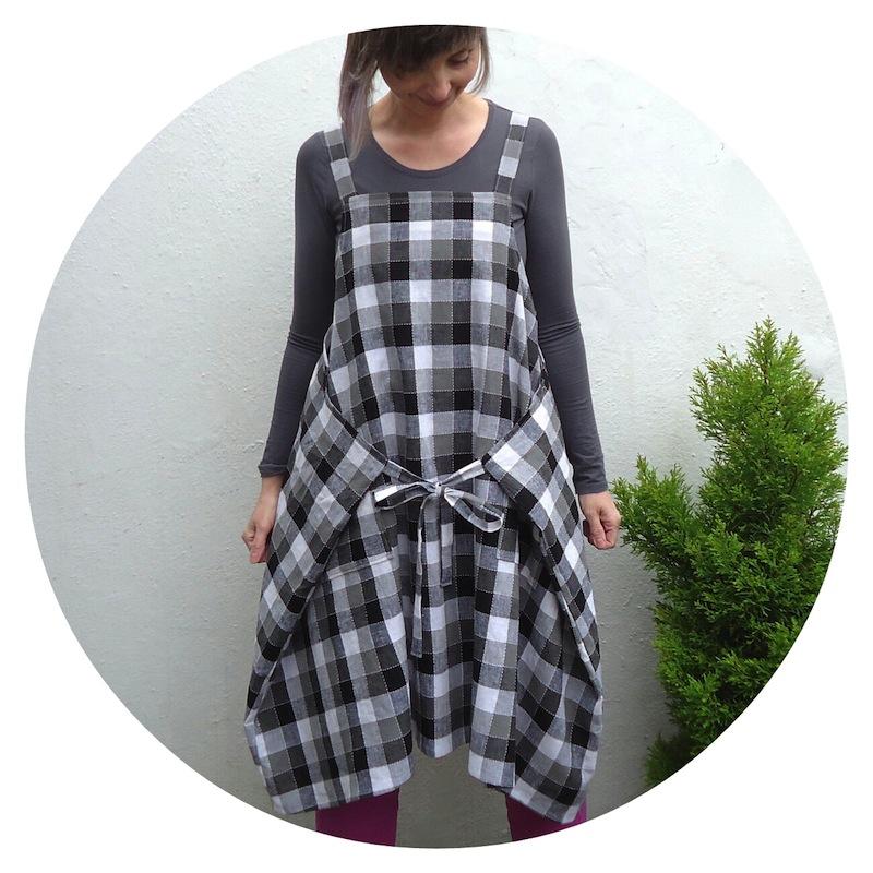 Yoshiko Tsukiori Straight Stitch Apron Dress