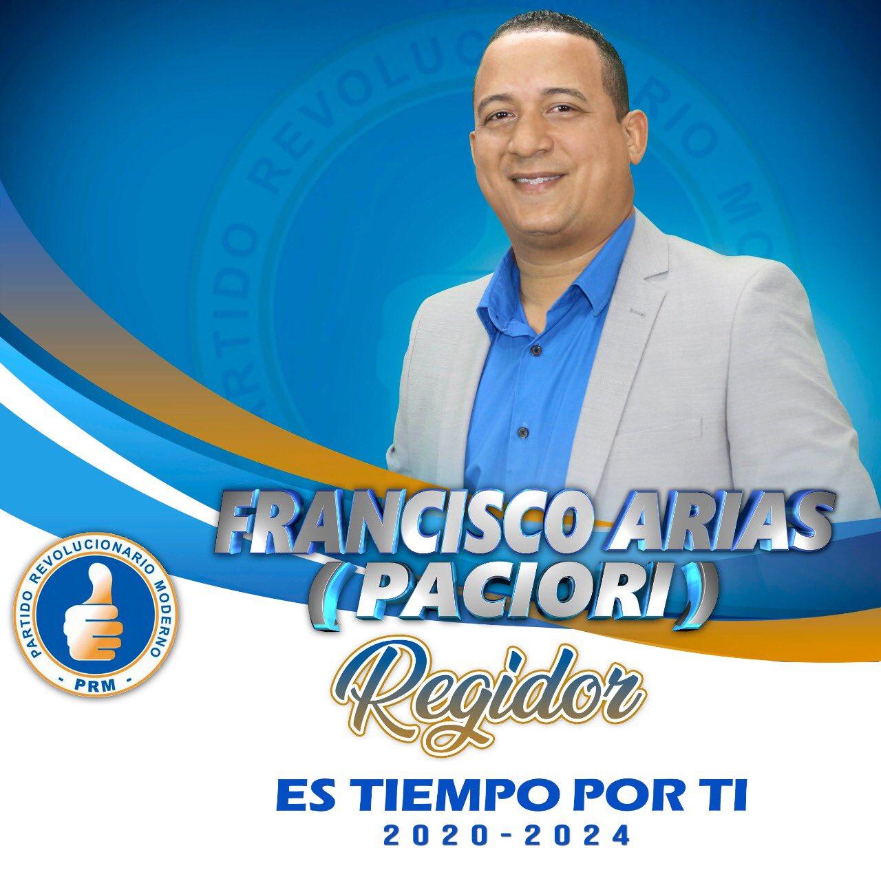 Francisco Arias -Paciolri. Regidor PRM