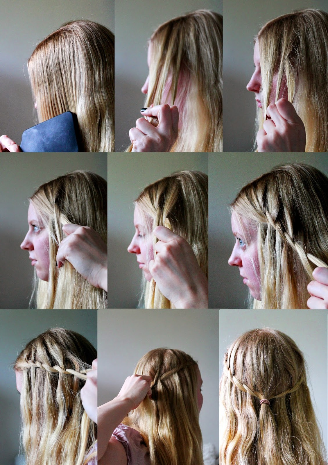 Waterfall braid how to | Alinan kotona blog