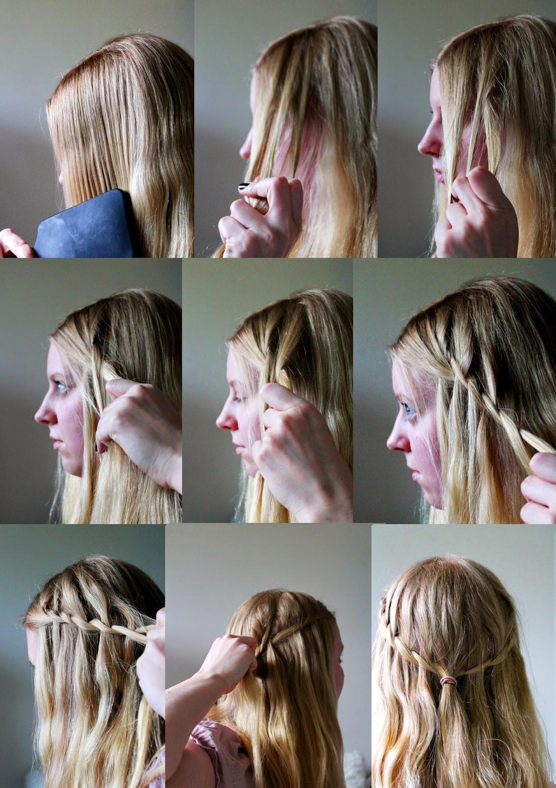 Waterfall braid how to | Alinan kotona blog