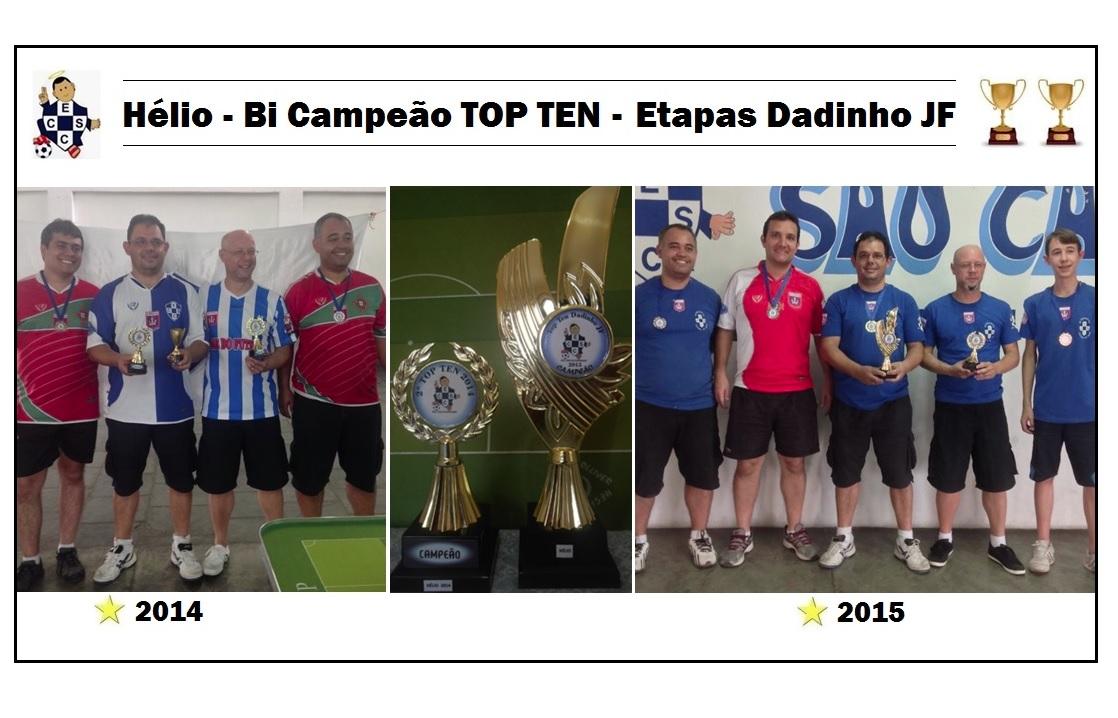 Hélio Bi Campeão TOP TEN EDJF 2014/2015