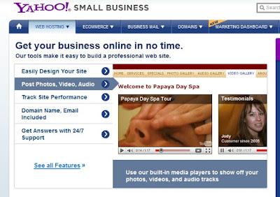 yahoo webhosting provider