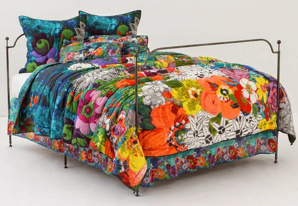 anthropologie quilt colcha cama
