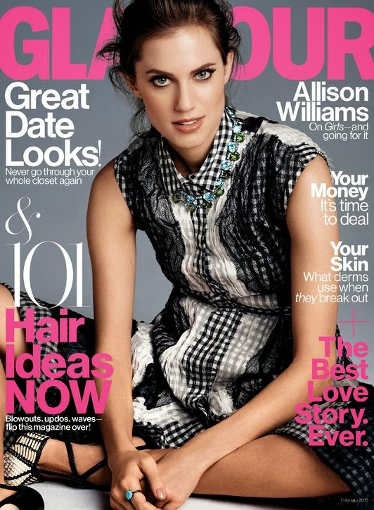 Allison Williams - Glamour Magazine, February 2015
