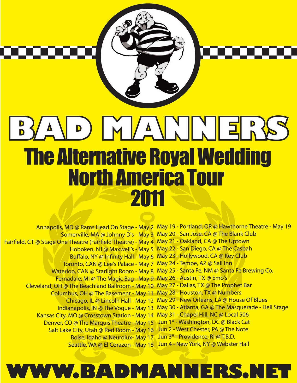 marco on the bass bad manners kick off north american tour bad manners kick off 2011 north american tour