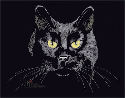 dessin chat noir