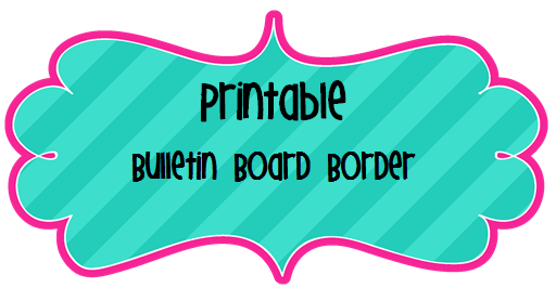 Clever image inside free printable bulletin board borders