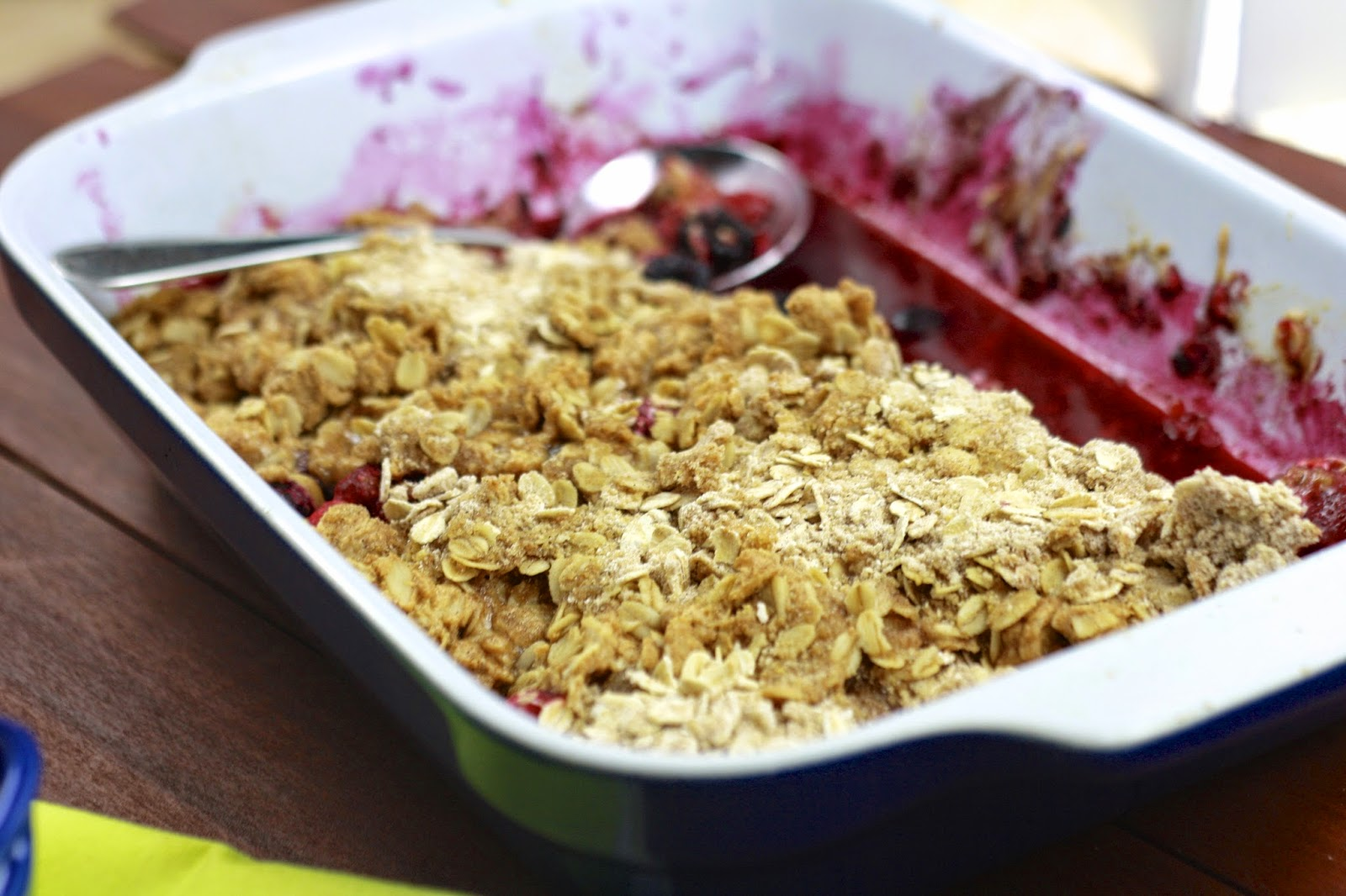Peanut Butter Berry Cobbler | The Sweets Life